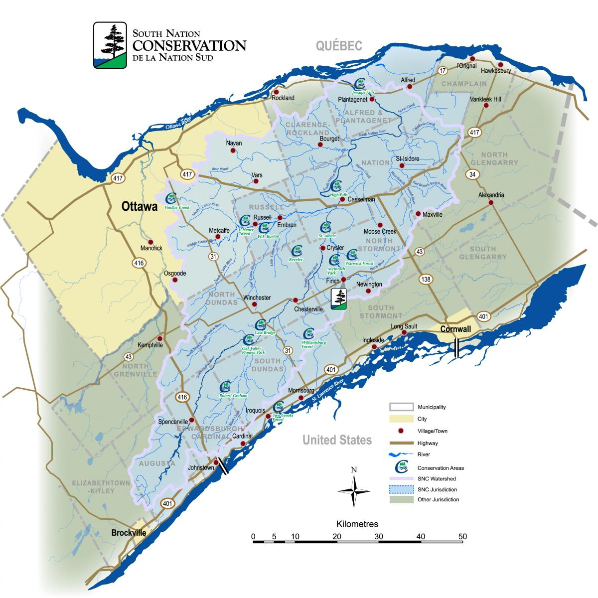 Maps South Nation Conservation Authority